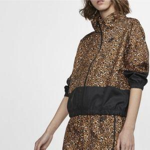 NWT leopard windbreaker jacket